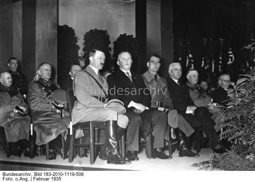 Adolf Hitler at the opening of the 1935 international motor show
