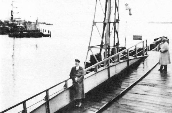 Adolf Hitler waits for the ferry in Brunsbüttelkoog
