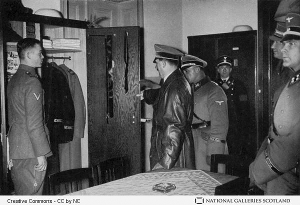 Adolf Hitler visiting the SS Leibstandarte Regiment with Sepp Dietrich