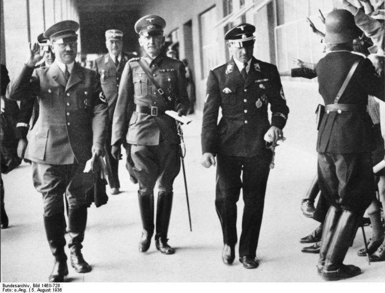 Adolf Hitler and Joseph 'Sepp' Dietrich in Olympia