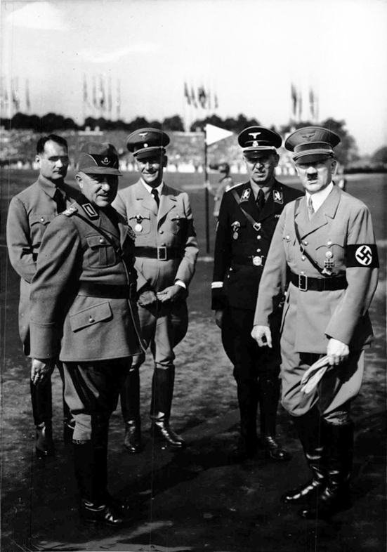 Adolf Hitler in Nuremberg's Zeppelinfield for the call of the Reichsarbeitsdienst at the 1937 Reichsparteitag