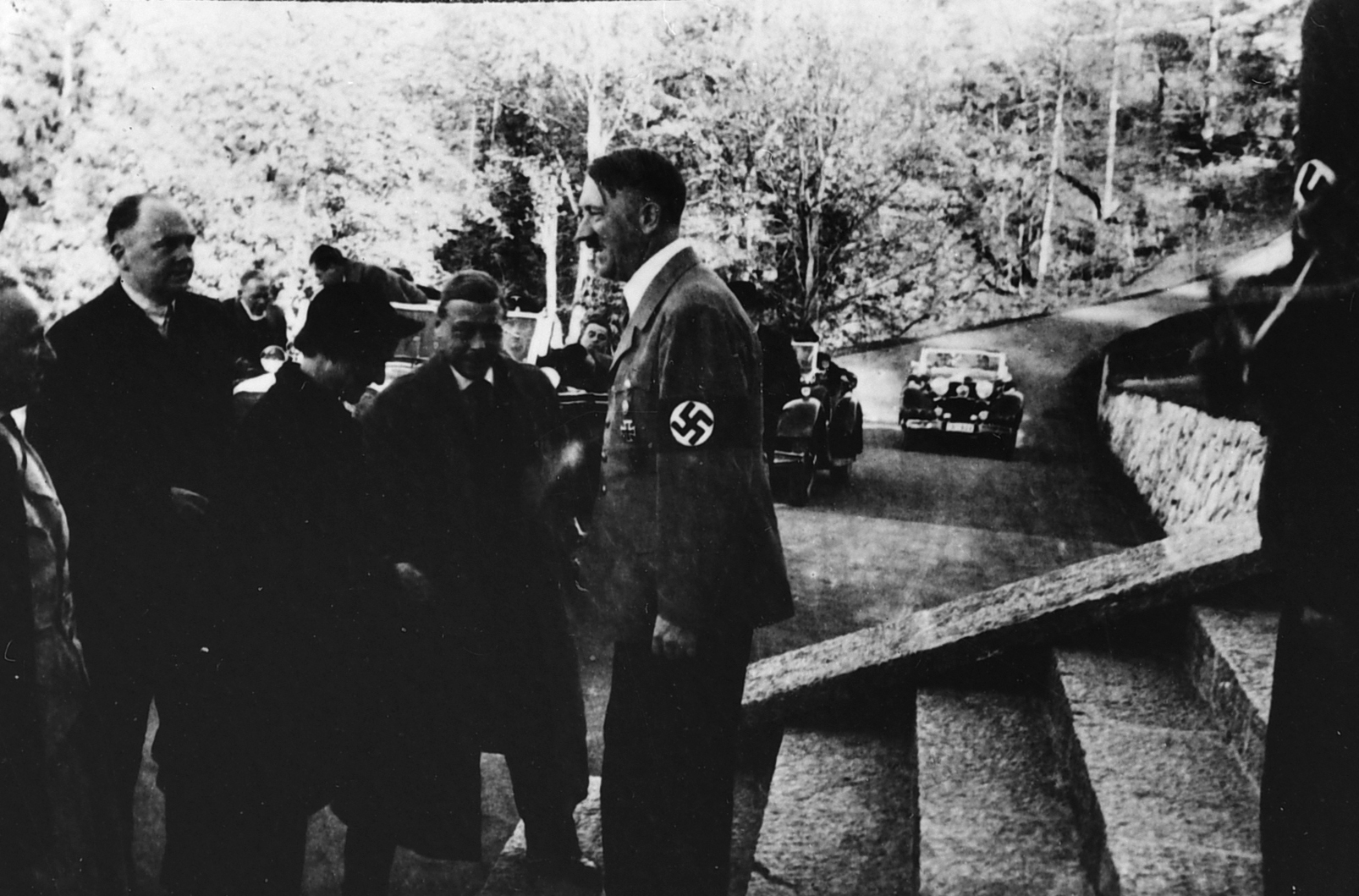 Adolf Hitler welcomes the Duke and Duchess of Windsor at the Berghof