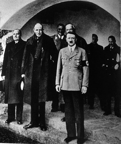 Adolf Hitler receives Lord Halifax, Leader of the British House of Lords, at the Berghof