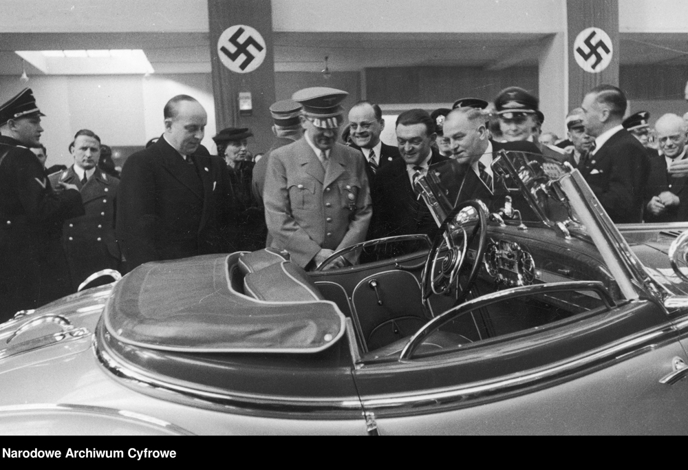 Adolf Hitler visits the international auto show
