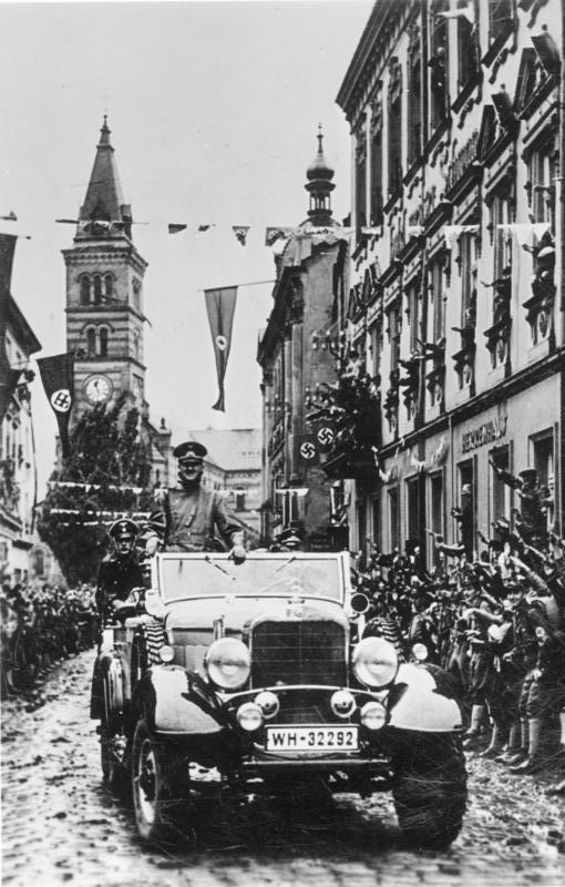 Adolf Hitler in Graslitz