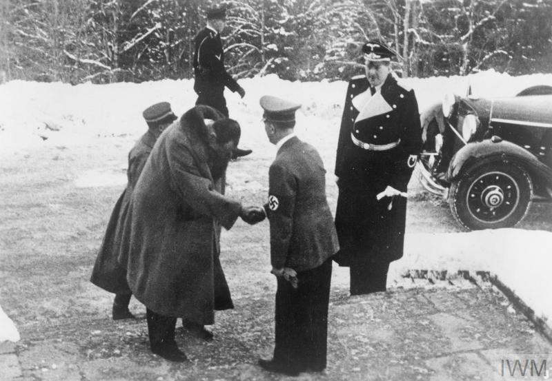 Poland's Foreign Minister, Josef Beck, is welcomed at the Berghof