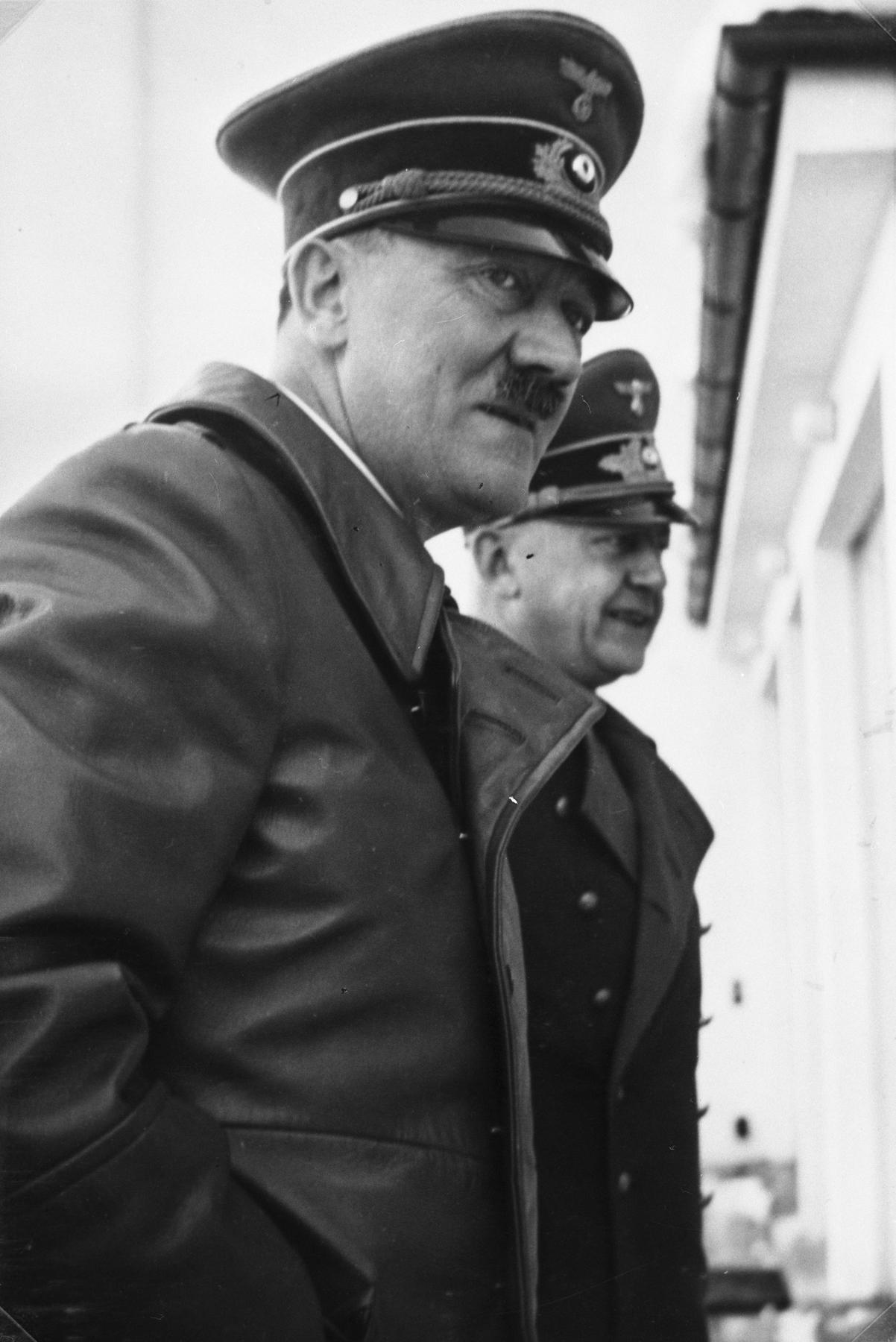 Adolf Hitler and Gauleiter Wagner on the Berghof terrace early January 1940, from Eva Braun's albums
