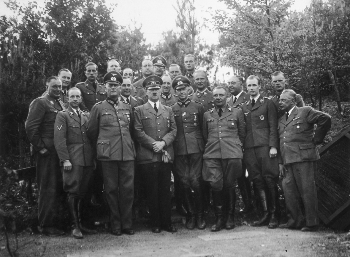 Hitler and his staff at Felsennest, from Eva Braun's albums