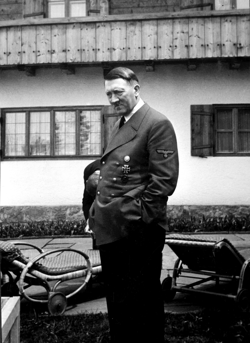 Adolf Hitler on the Berghof terrace during the summer of 1940, from Eva Braun's albums