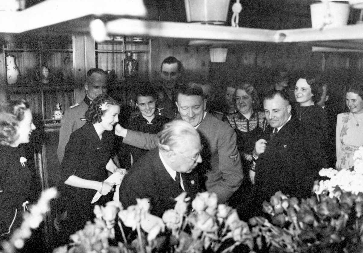 Adolf Hitler's 54th birthday celebration at the Berghof, from Eva Braun's albums